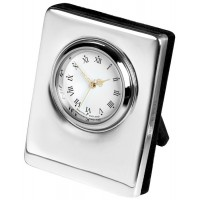 Sterling Silver Clock Plain
