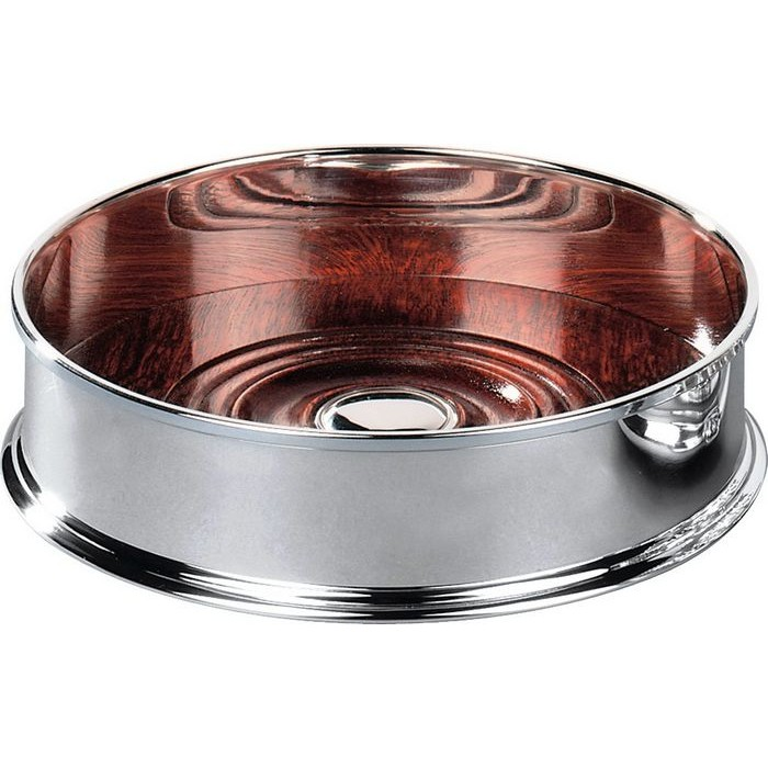 Silver Plated Straight Sided Bottle Coaster
