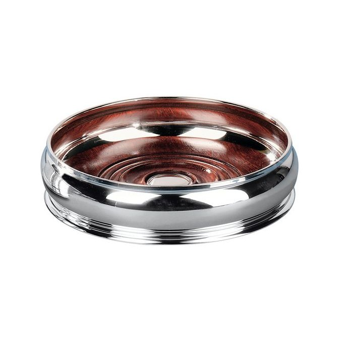 Silver Plated Bellied Bottle Coaster
