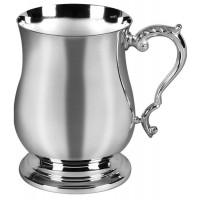 Silver Plated Bellied Georgian Tankard