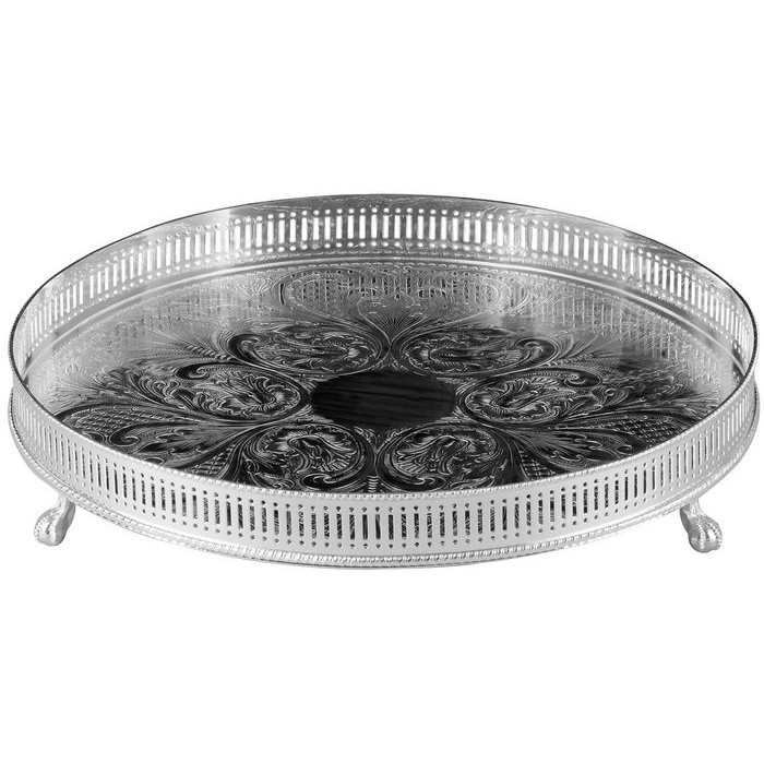 Silver Plated Gallery Tray 12Inch
