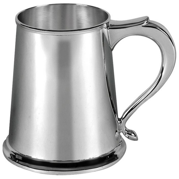 Sterling Silver One Pint Straight Sided Tankard 300 Gram