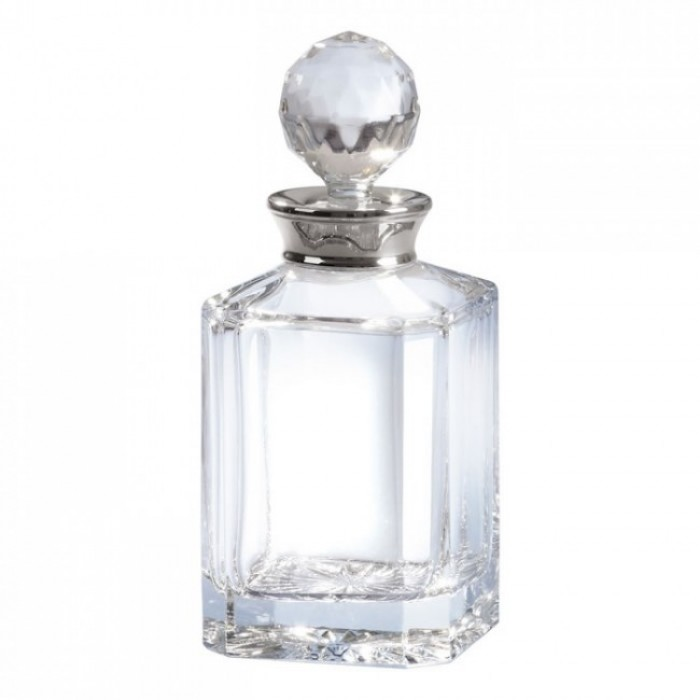 Sterling Silver Mounted Plain Crystal Whisky Decanter