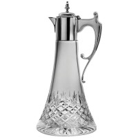 Sterling Silver Crystal And Silver Hand Cut Claret Jug