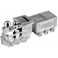 Silver Plated Train Money First Tooth And Curl Box