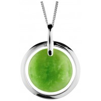 Sterling Silver Green Jade Pendant