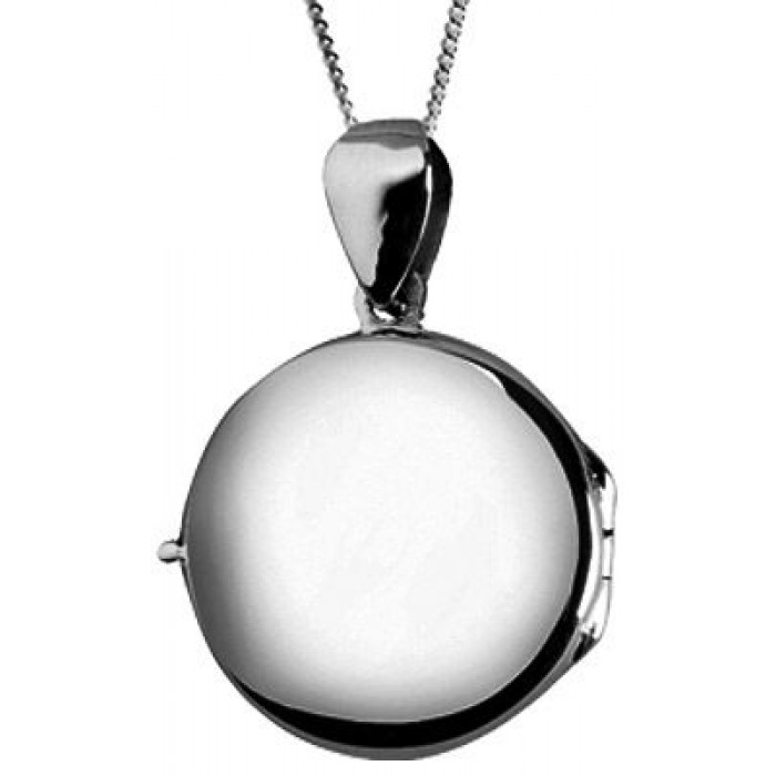 Sterling Silver Plain Locket Necklace