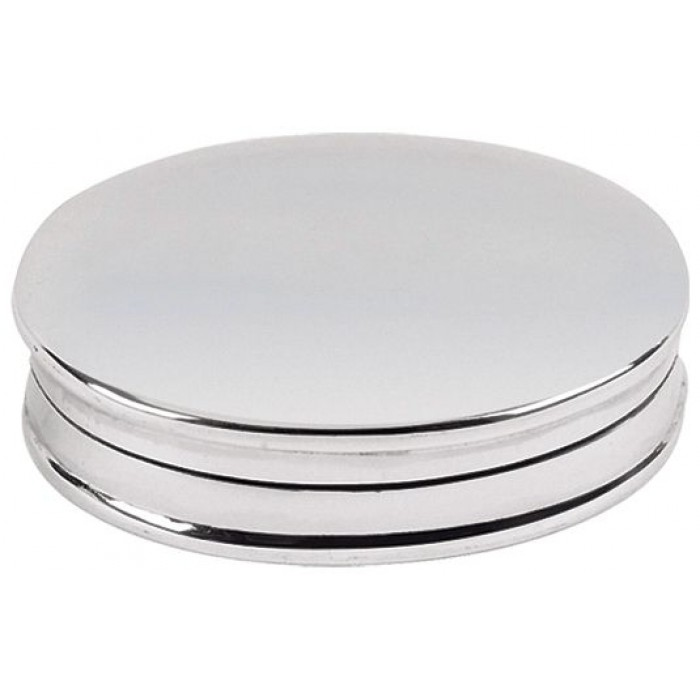 Sterling Silver Plain Oval Pill Box