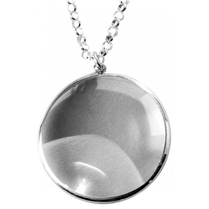 Sterling Silver Magnifying Glass Pendant with Chain