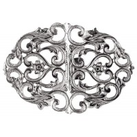 Sterling Silver Oval Nurse Buckle