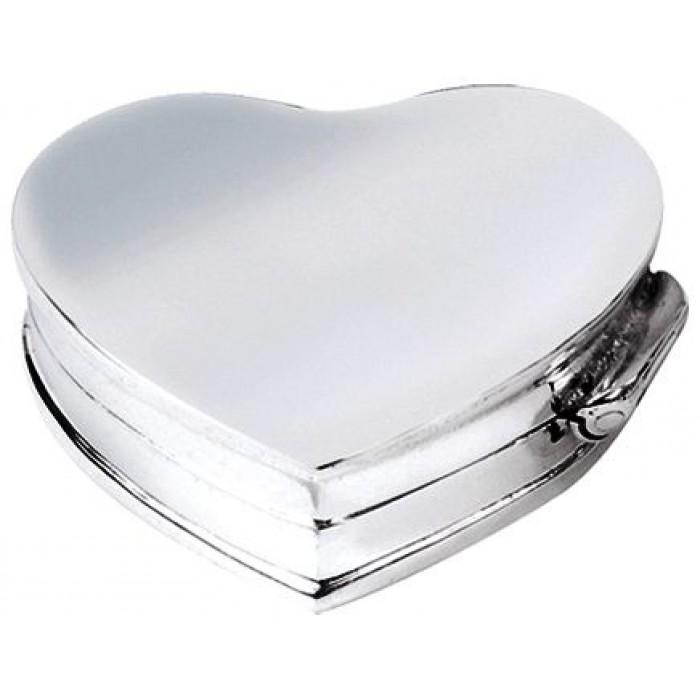 Sterling Silver Heart Pill Box
