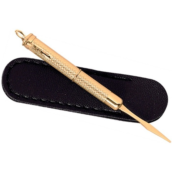9Ct Gold Toothpick Twist Action with Sheath