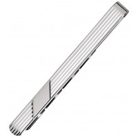 Sterling Silver Striped Tie Bar