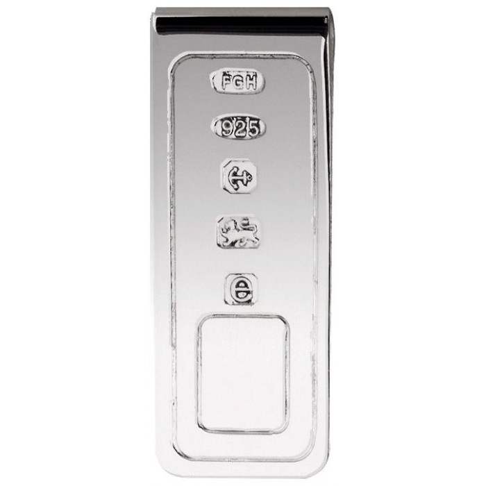 Sterling Silver Lines Money Clip
