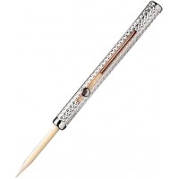 Sterling Silver Barley Design Plastic Dental Toothpick