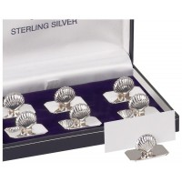 Set Of Six Shell Name Card Holders