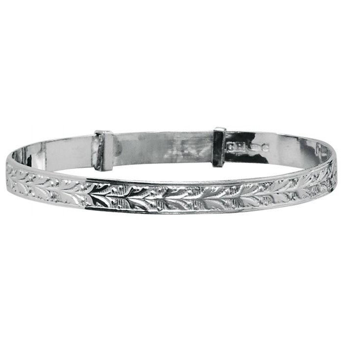 Sterling Silver Baby Bangle 2 Inch