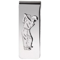 Sterling Silver Golf Money Clip