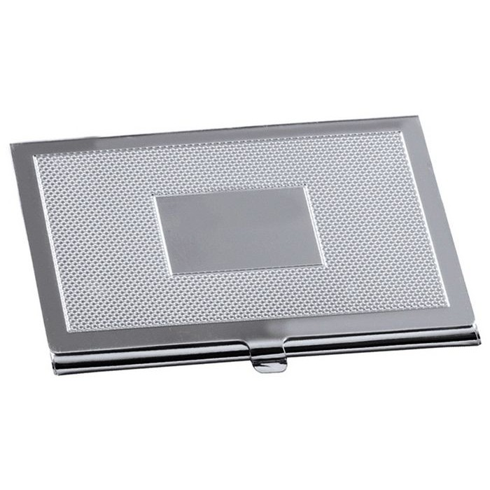 Silver Plated Credit Or Visiting Card Case With Pochette