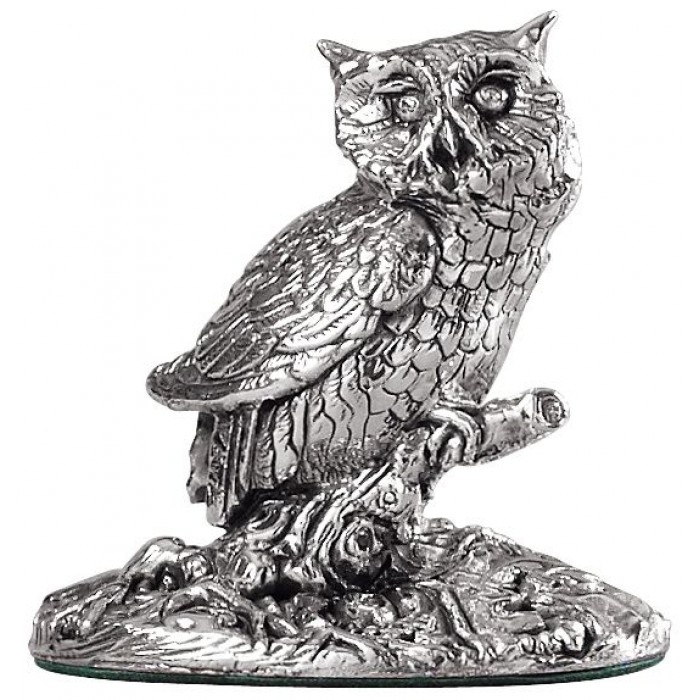 Sterling Silver Owl Statue