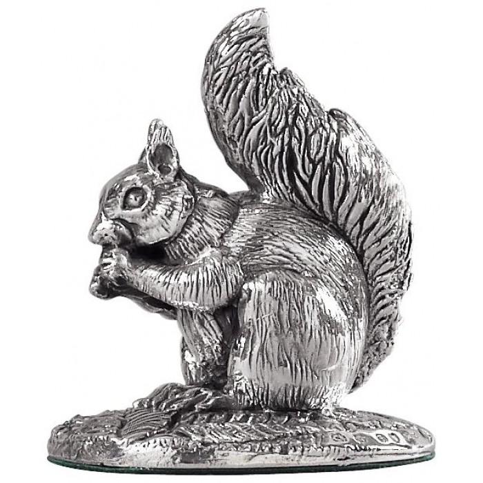 Sterling Silver Squirrel Statue