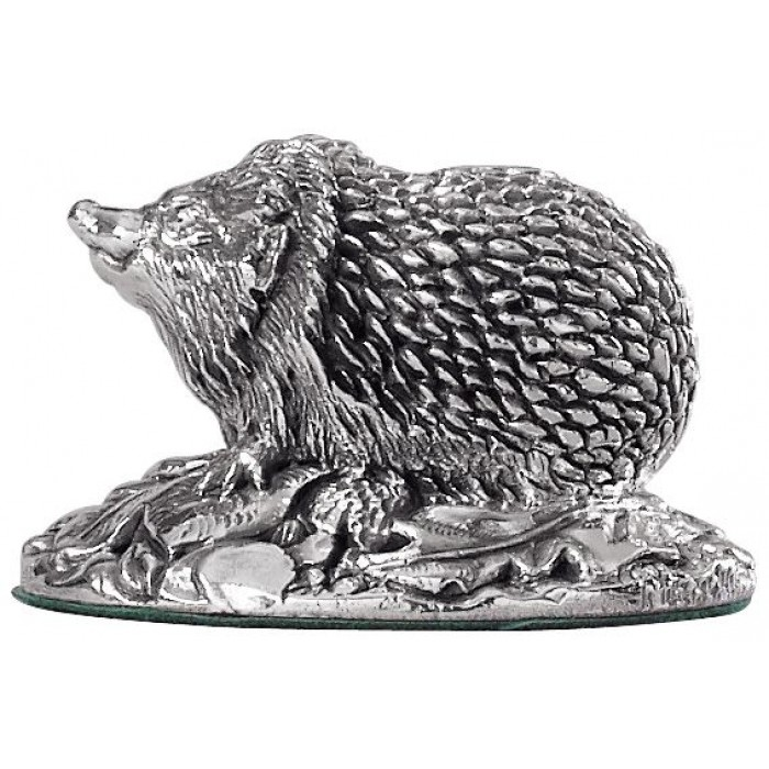 Sterling Silver Hedgehog Statue