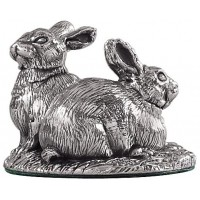Sterling Silver Rabbits