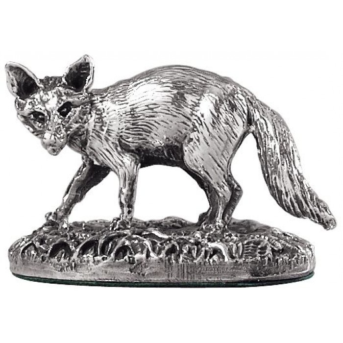 Sterling Silver Fox Statue