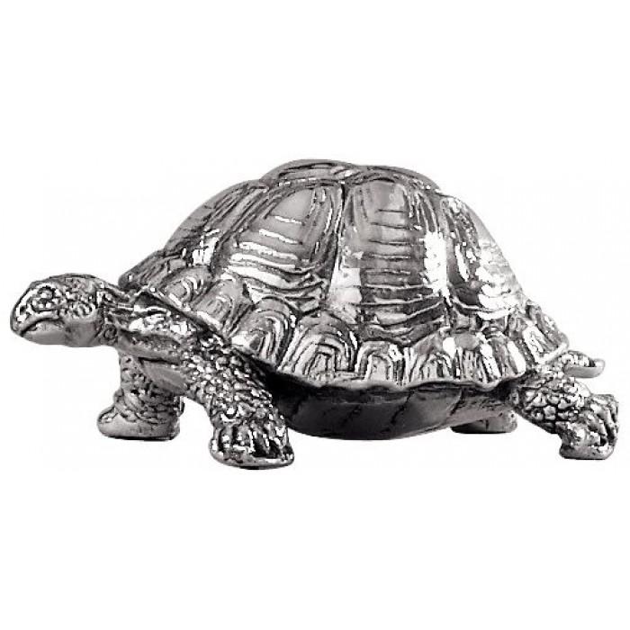 Sterling Silver Tortoise Statue