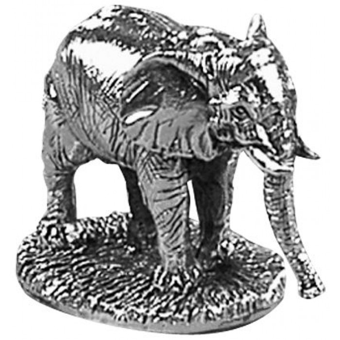 Sterling Silver Elephant Statue