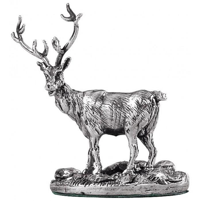 Sterling Silver Stag Deer Statue