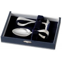 Sterling Silver Spoon And Food Pusher Set