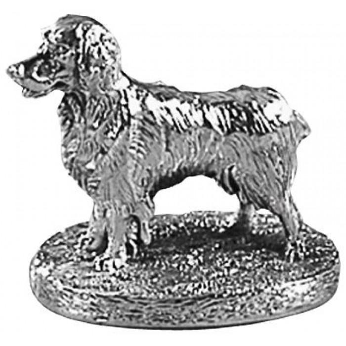Sterling Silver Spaniel Dog Statue
