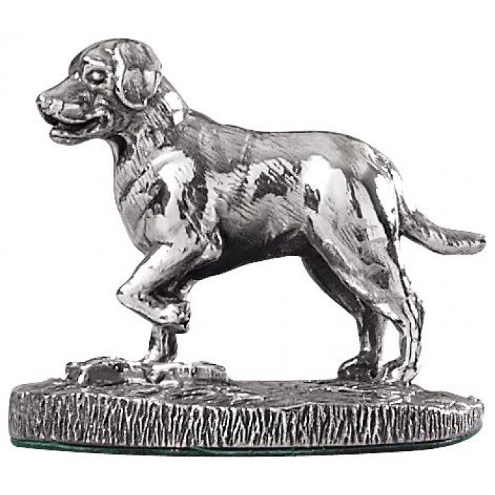 Sterling Silver Labrador Statue