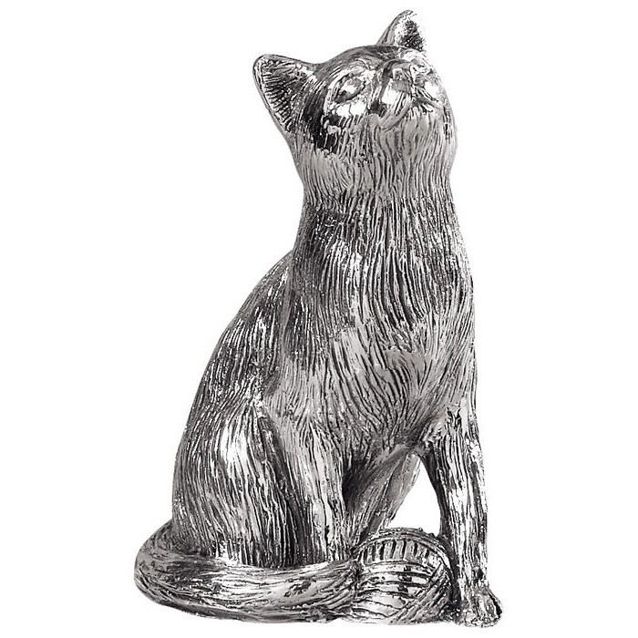 Sterling Silver Cat Statue