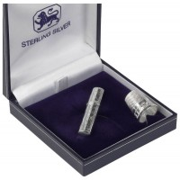 Sterling Silver Needle Case And Thimble Sewing Set
