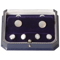Mother Of Pearl Cufflinks And Dress Stud Set