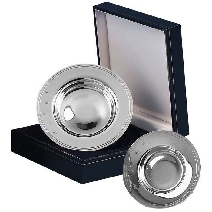 Sterling Silver 3Inch Drakes Dish With Presentation Case