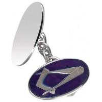 Sterling Silver Masonic Chain Cufflinks