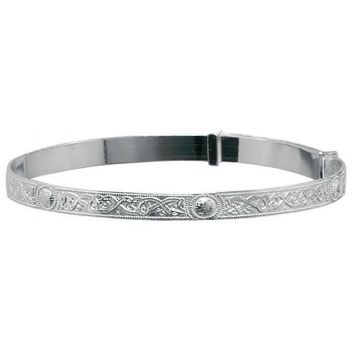 Sterling Silver 2 Inch Celtic Baby Bangle