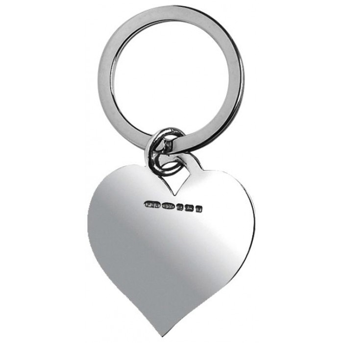 Sterling Silver Heart Keyring