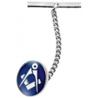 Blue Masonic Tie Pin