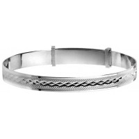 Sterling Silver Baby Expandable Bangle