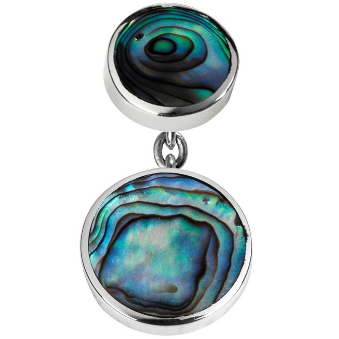 Sterling Silver Oyster Shell Set Chain Cufflinks