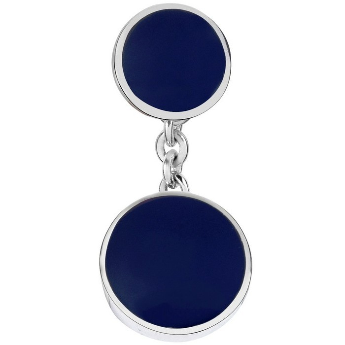 Sterling Silver Lapis Chain Cufflinks