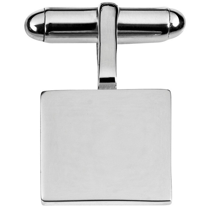 Sterling Silver Square Cufflinks With 2Mm Plates