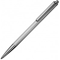 Sterling Silver Engine Turned Slimline Ballpoint Pen