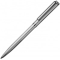 Sterling Silver Engine Turned Twist Action Ballpoint Pen Lines