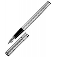 Sterling Silver Engine Turned Fountain Pen
